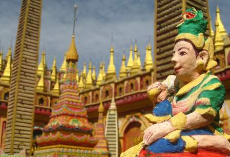 De Thanboddhay pagode in Monywa