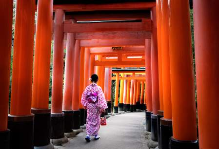 De Fushimi-inari shrine in Kyoto