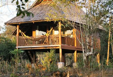 De Kingfisher Lodge in Xe Pian NP