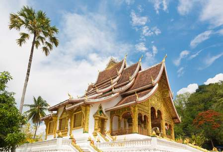 De Haw Pha Bang tempel in het Royal Palace complex in Luang Prabang