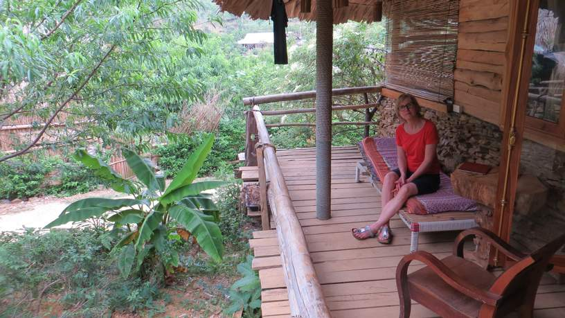 Antoinette op reis - eco-lodge in Vietnam
