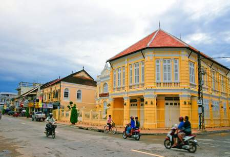 Straatbeeld Battambang
