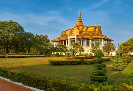 Het Royal Palace in Phnom Penh
